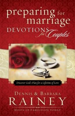 "[""It can be tempting, for couples who are engaged, to focus on planning their wedding day and ignore preparations for the lifetime commitment that begins after the cake is cut. Now, the best-selling resource for couples, \""Preparing for Marriage,\"" has a companion devotional that includes 50 short devotions written by Dennis and Barbara Rainey. \""Preparing for Marriage\"" is a program created by FamilyLife, one of America's leading marriage and family ministries, and is designed to help ..."