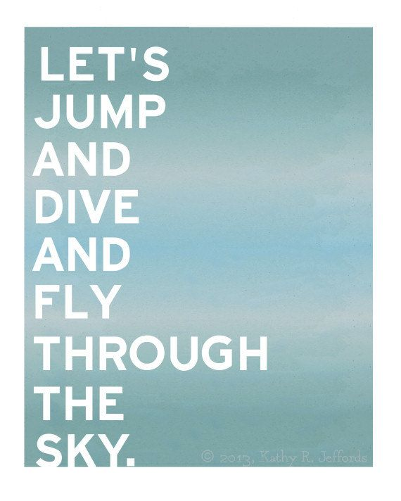 Skydiving Parasailing Hang Gliding Bungee by thedreamygiraffe, $18.00