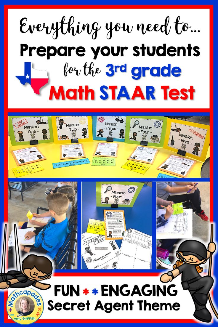 Tired of the hum drum repetitious review before the big state test? I was, so I created this fun activity for my 3rd grade Math students to review and practice solving higher level questions the week before the Texas Math STAAR test. There are 2 questions for each readiness standard and 1 for each supporting standard. Let's hone our detective skills at 3rd grade Secret Agent Math STAAR Academy!!!