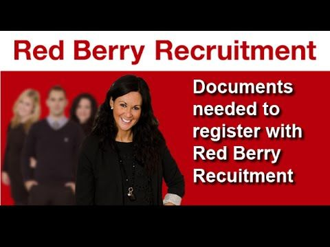 When registering with a recruitment agency like Red Berry recruitment you will need a range of documents from passport, proof of address, certificates and national insurance number etc. This video takes through the list of requirements to speed up the registration process.