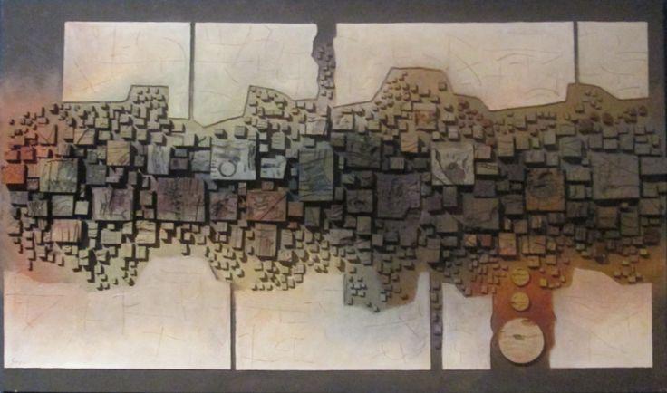 """""""Introspezione"""" cm 169 x 99,5 Tecnica: polimaterica"""