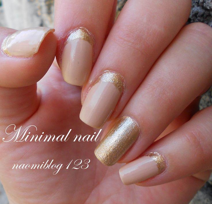 NaomiBlog avagy Noémi körmei, nail, minimal nail, gold nail, ruffian nail,