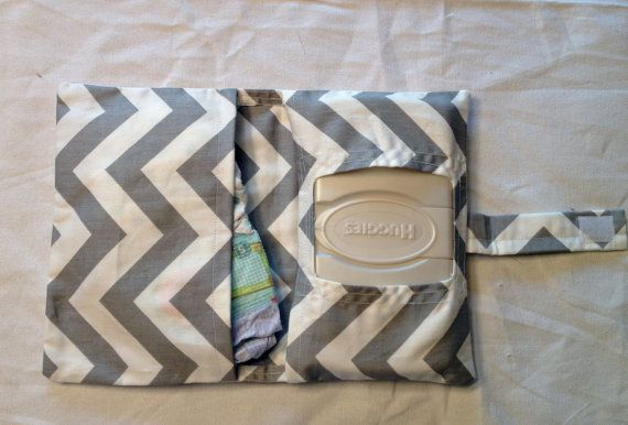 Grey Chevron Diaper Clutch Ready to Ship by RilosAndMiMi on Etsy, $12.00