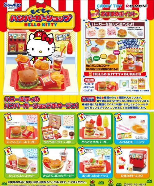Re-ment Miniatures Sanrio Hello Kitty Burger Shop Set