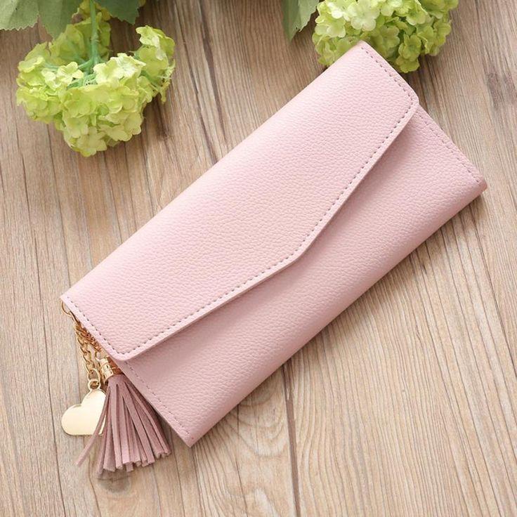 MOLAVE billetera nueva moda Mujer Monedero Largo Simple