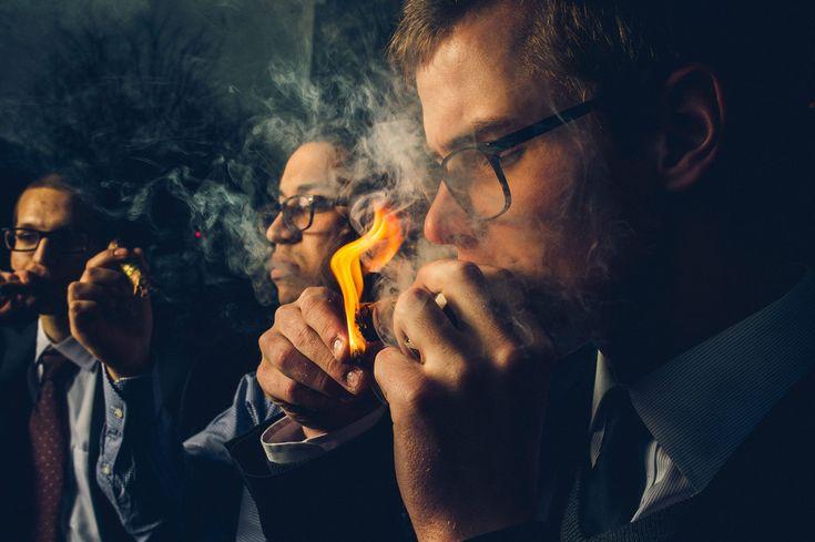 Philadelphia Wedding Photographers: Allebach Photography - Cigar Smoking Groom…