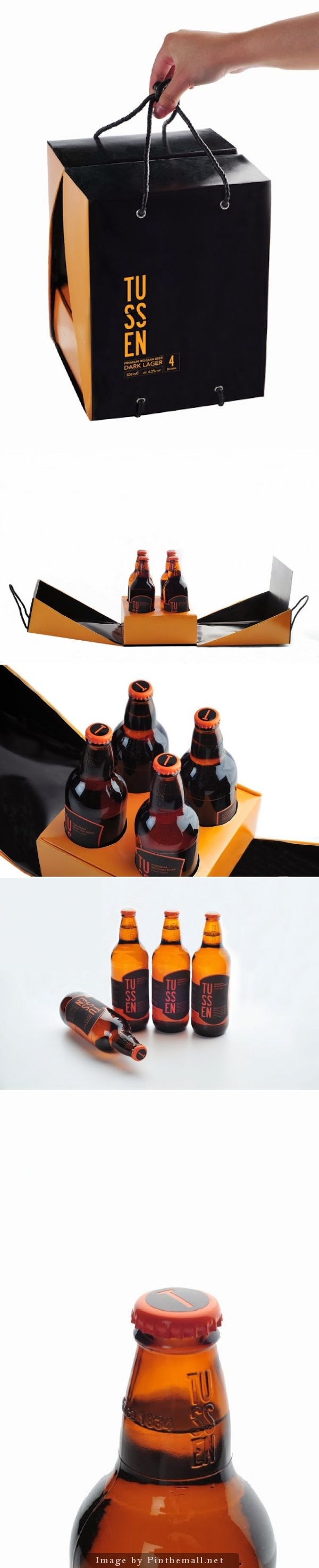 TUSSEN Premium Belgian Beer (Student Project)  cool packaging