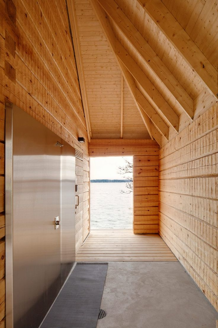 OOPEAA principal Anssi Lassila designed the Lonna Sauna for the Governing Body of Suomenlinna, which oversees activities on a cluster of islands that once formed a sea fortress at the entrance to Helsinki.