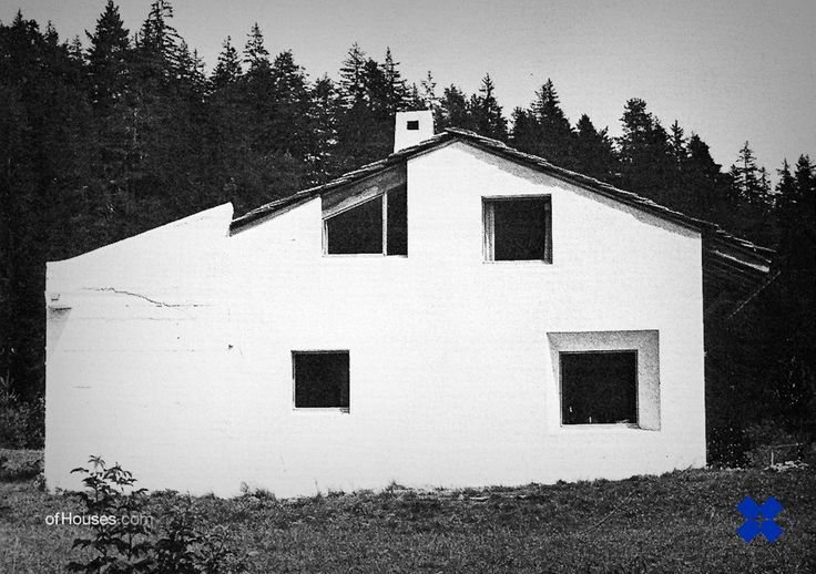 136. Rudolf Olgiati /// Van der Ploeg House /// Lavanuz, Laax, Graubünden, Switzerland /// 1966-1967 OfHouses gust curated by Fala atelier. (Pictures 1-4 selected by Fala, plans redrawn by Fala.)