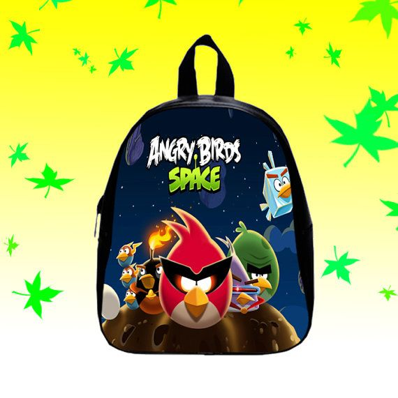 Angry Bird  Backpack/SchoolBags for Kids. by FACIALBAG on Etsy