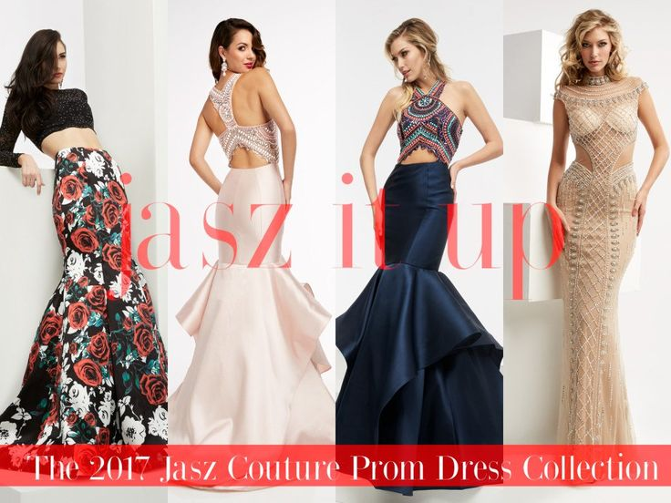 The 2017 Jasz Couture Prom Dress Collection!  All that glitters may not be gold…but could very well be a dress by Jasz Couture!  A top manufacturer of prom and pageant dresses, the newest collection is laden with unexpected cutouts and contemporary racer cuts that place sexy shoulders at the forefront.  A default silhouette, each gown's curve-hugging fit and detailed embellishments make for a flirtacious finish that will live on long after evening's end.  Bring the drama-with a glam twist-by…