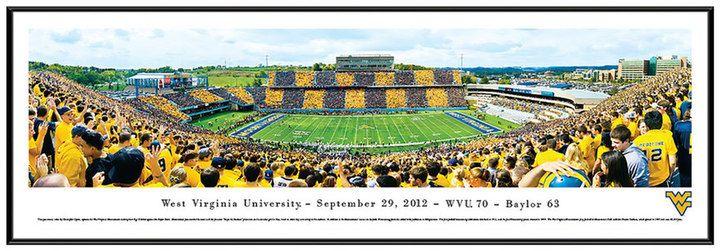 NCAA West Virginia Mountaineers Football Stadium 50-Yard Line Framed Wall Art