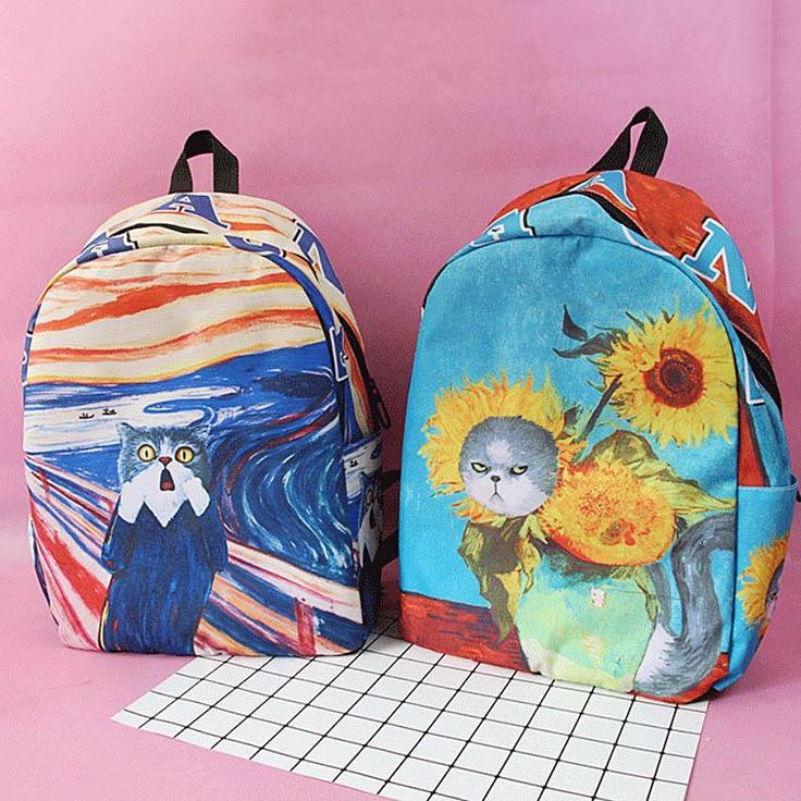 Cat Painting Backpack