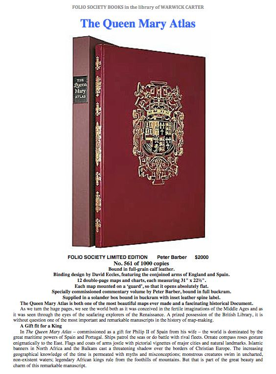 The Queen Mary Atlas  - FOLIO SOCIETY LIMITED EDITION
