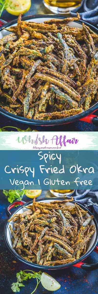 Kurkuri Bhindi is a spicy fried snack or main course dish made using Okra, gram flour and spices. It is very irresistible and can be prepared in minutes. Read its easy step by step recipe and prepare it soon! #Okra #Indian #Recipes via @WhiskAffair