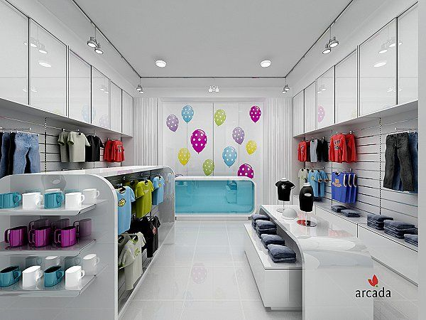 Kids clothes shop interior design