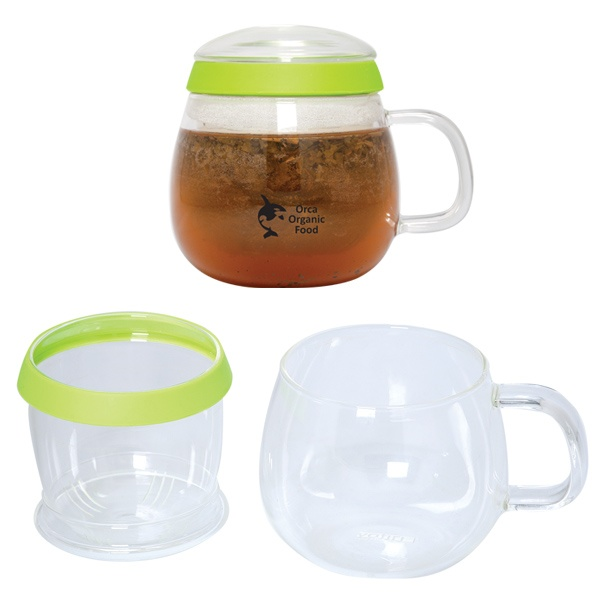 DA8486 - 500 ML. (16 OZ.) TEA CUP WITH INFUSER - Debco Innovation Starts Here