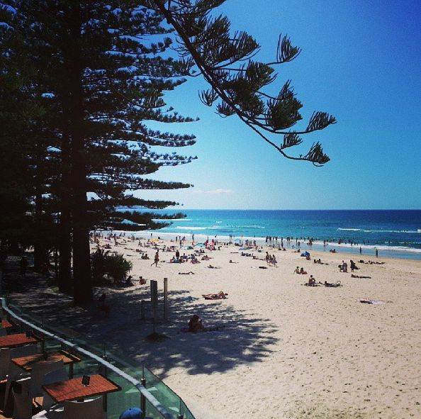 Not a bad view for a lunch with the girls #BurleighHeads