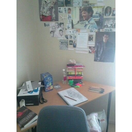 Everyone is taking pics of their desk space so why not mine?ignore the cat food by the chair(for cat not me)