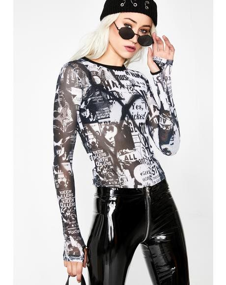 1c88505a1766 Anarchist Babe Mesh Top  dollskill  currentmood  backtoschool  punk  mesh