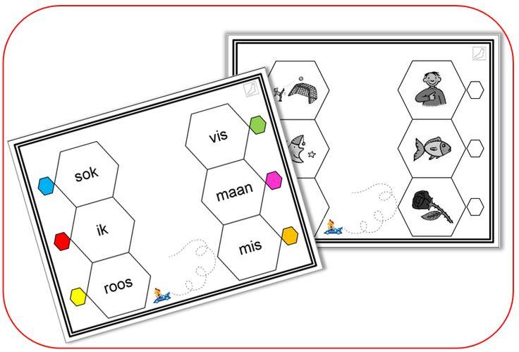 Dit spel kunnen de leerlingen per 2 of alleen spelen. Er wordt geoefend op begrijpend lezen en luisteren. In kern 1 zijn er 4 sets; 3 met woorden en 1 met korte zinnen.