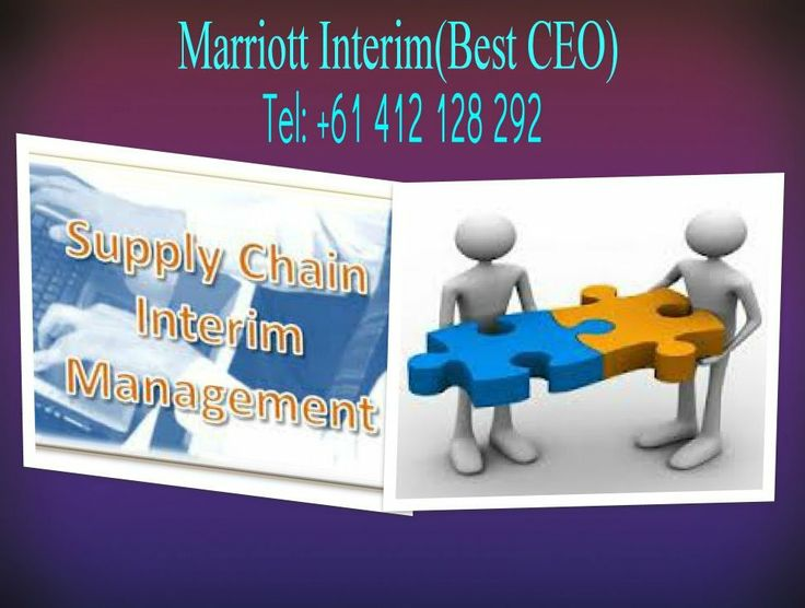 Interim Manager act as supply chain for your business.