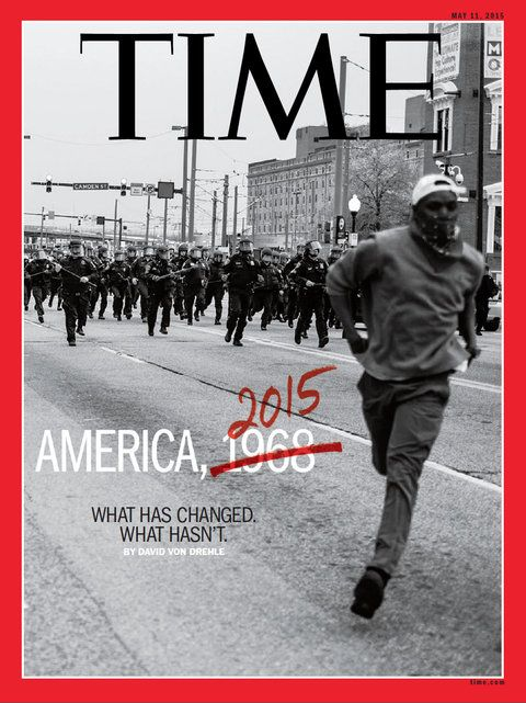 Devin Allen gives a voice to the voiceless. This is his photo on the cover of TIME magazine.