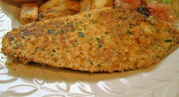 Baked Parmesan Talapia,   I will use panko bread crumbs when I cook this