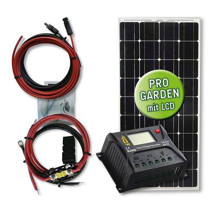 Beautiful  Watt Solar Garten Set mit PWM Laderegler VERSAND KOSTENLOS