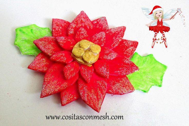 flores navideñas-reciclando