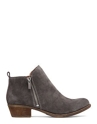 Basel Zippered Bootie in Grout Grey Suede | Lucky Brand