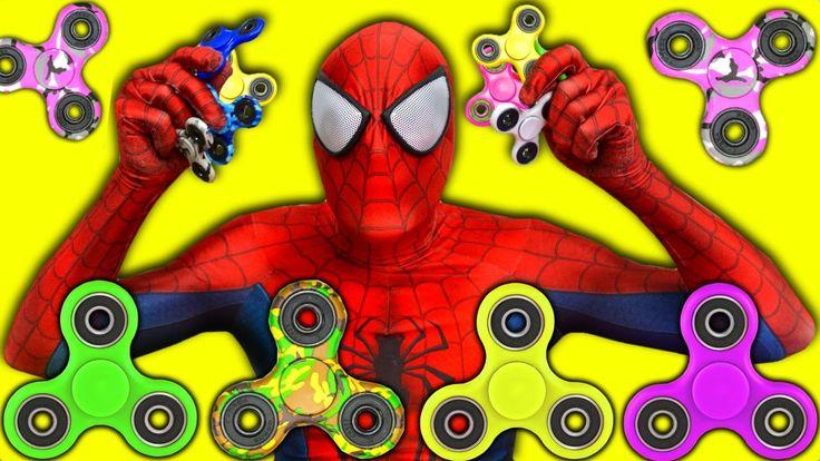 Spiderman Fidget Spinner Tricks Superheroes in Real Life FIDGET SPINNERS!
