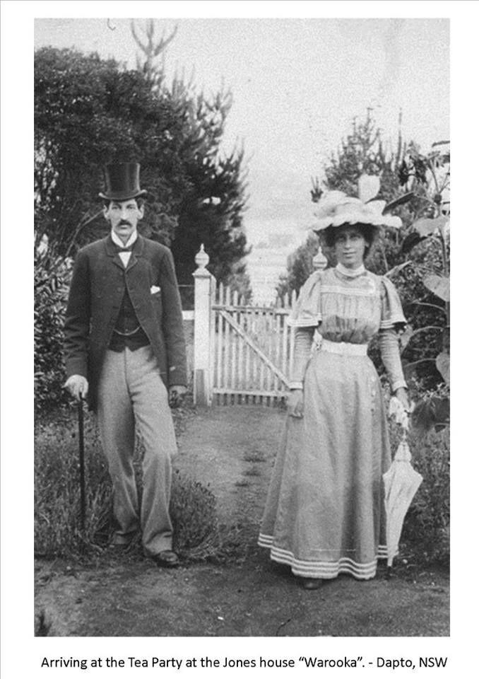 "'Arriving at the Tea Party at the Jones House 'Warooka"". - Dapto, NSW""  Australia, early 1900s"
