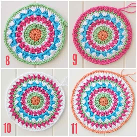 202 best Mandala images on Pinterest | Häkelzierdeckchen, Teppich ...