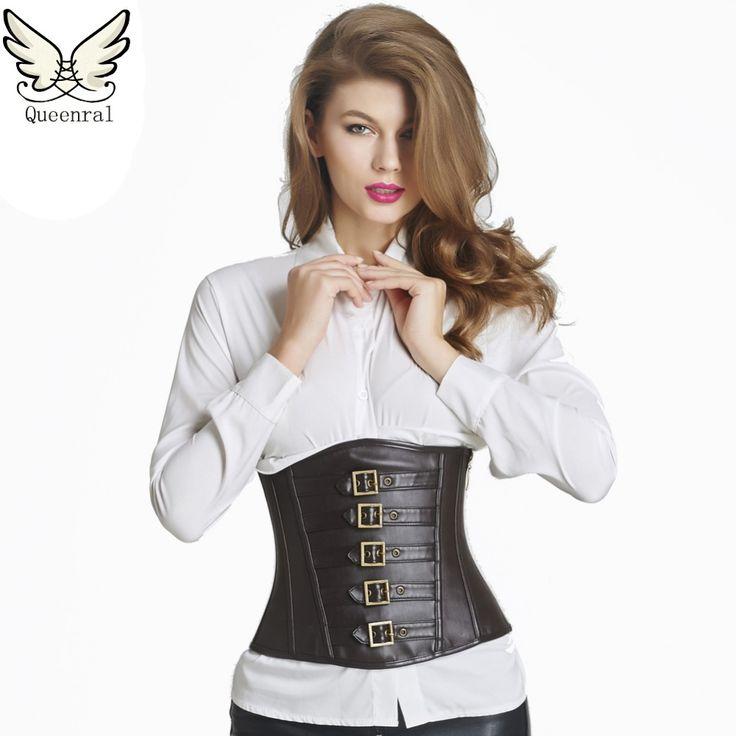 Leather corset eo huấn luyện viên áo nịt ngực sexy steampunk underbust nịt và bustiers steampunk quần áo corset Tri sexy