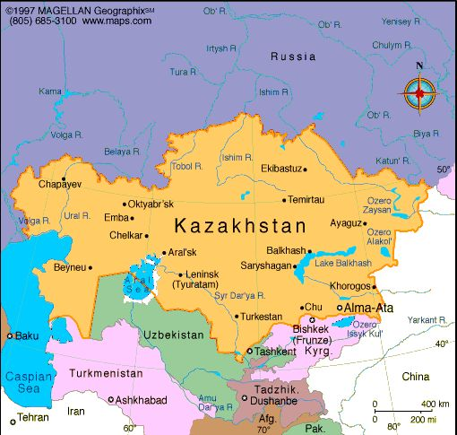 Kazakhstan Atlas: Maps and Online Resources   Infoplease.com