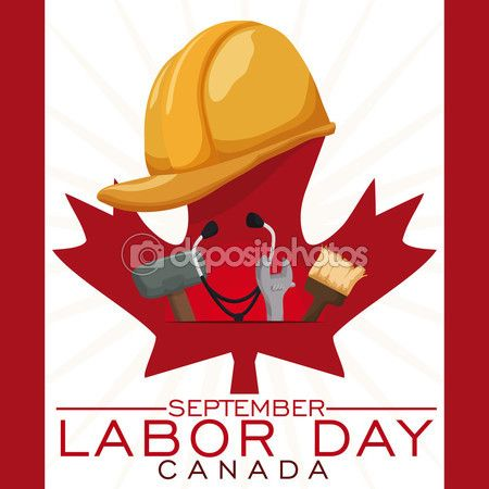 Worker's Equipment to Celebrate Canadian Labor Day