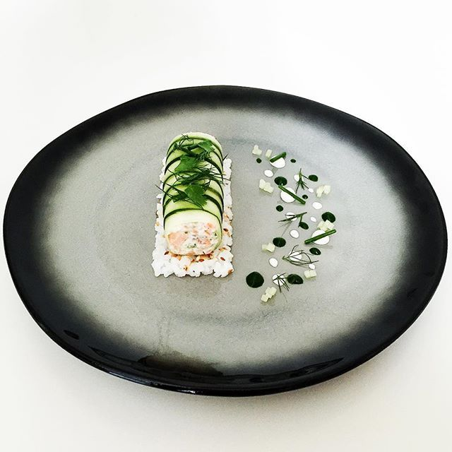 """Recipe of the day on the website: """"deconstructed sushi roll"""" made with smoked sea trout & crab tartare in a cucumber cannelloni ENTER THE GIVEAWAY Only 2 more days left to enter! Check our feed for details."""