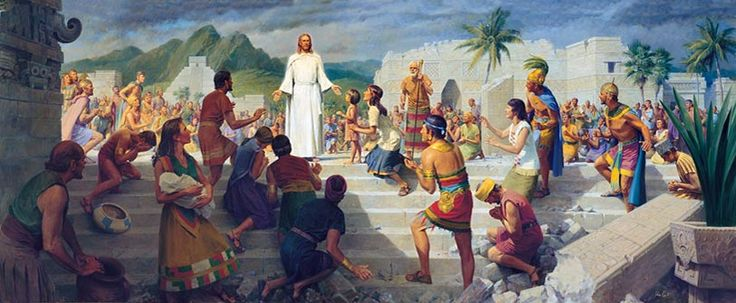 This is one of my favorite pictures. When Jesus Christ visits the Americas