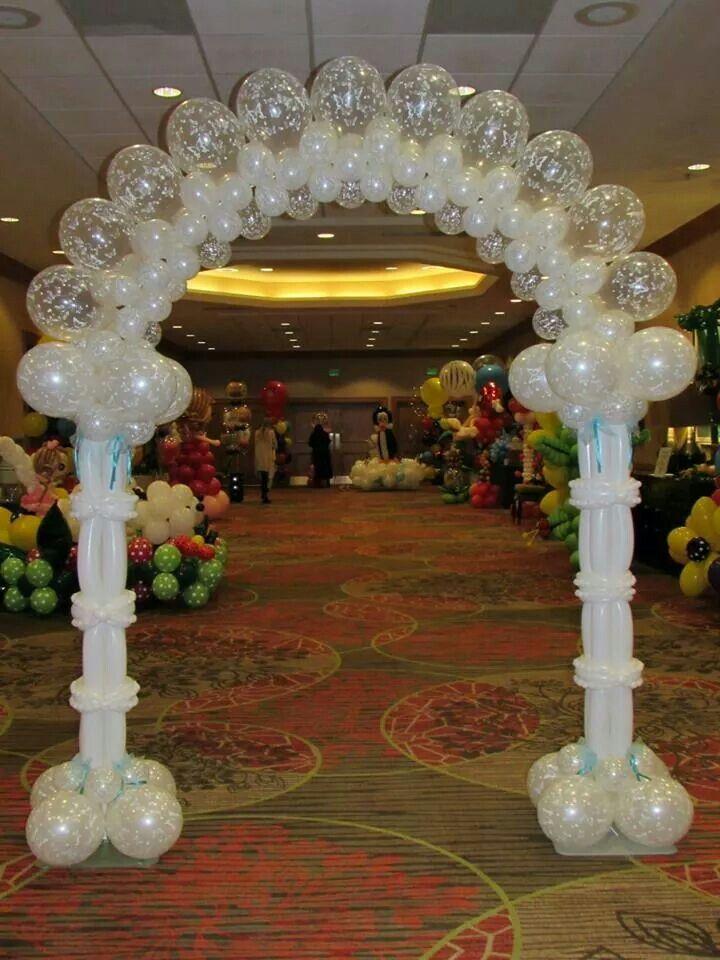 Cool white arch Balloon DecorationsBalloon ArrangementsBalloon