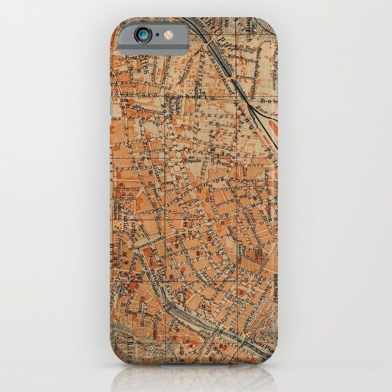 Vintage Map of Nice France (1914) iPhone & iPod Case