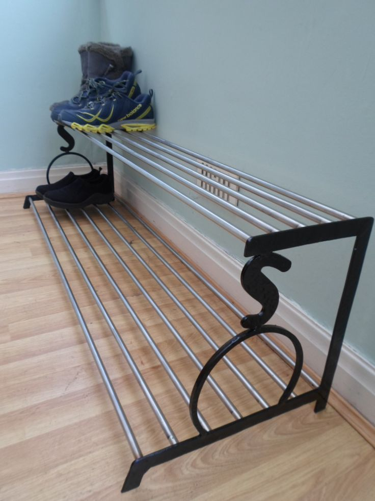 1.2 Metre Long Stainless Steel Shoe Rack Available @ ckmetalcraft.co.uk
