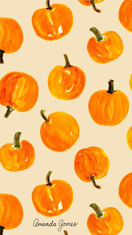 Print Pattern Orange Autumn Octoberwallpaperiphone Iphone