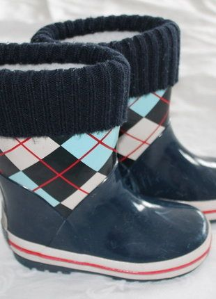 Kaufe meinen Artikel bei #Mamikreisel http://www.mamikreisel.de/kleidung-fur-jungs/gummistiefel/34606991-schicke-playshoes-kinder-gummistiefel-gefuttert-gr-2425