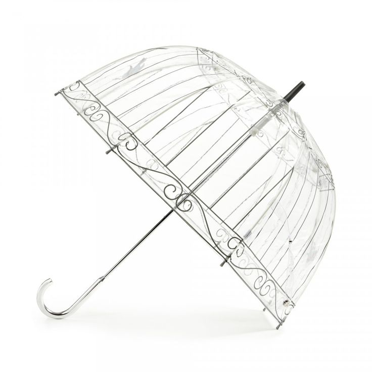 Birdcage Umbrella: What better way to get rid of those dark clouds then carrying a beautiful Birdcage Umbrella? Inspiration was taken from Lulu's Birdcage collectable handbag. This umbrella is transparent pvc with grey birdcage and intricately printed birds. - Visit Lulu Guinness at http://www.luluguinness.com/