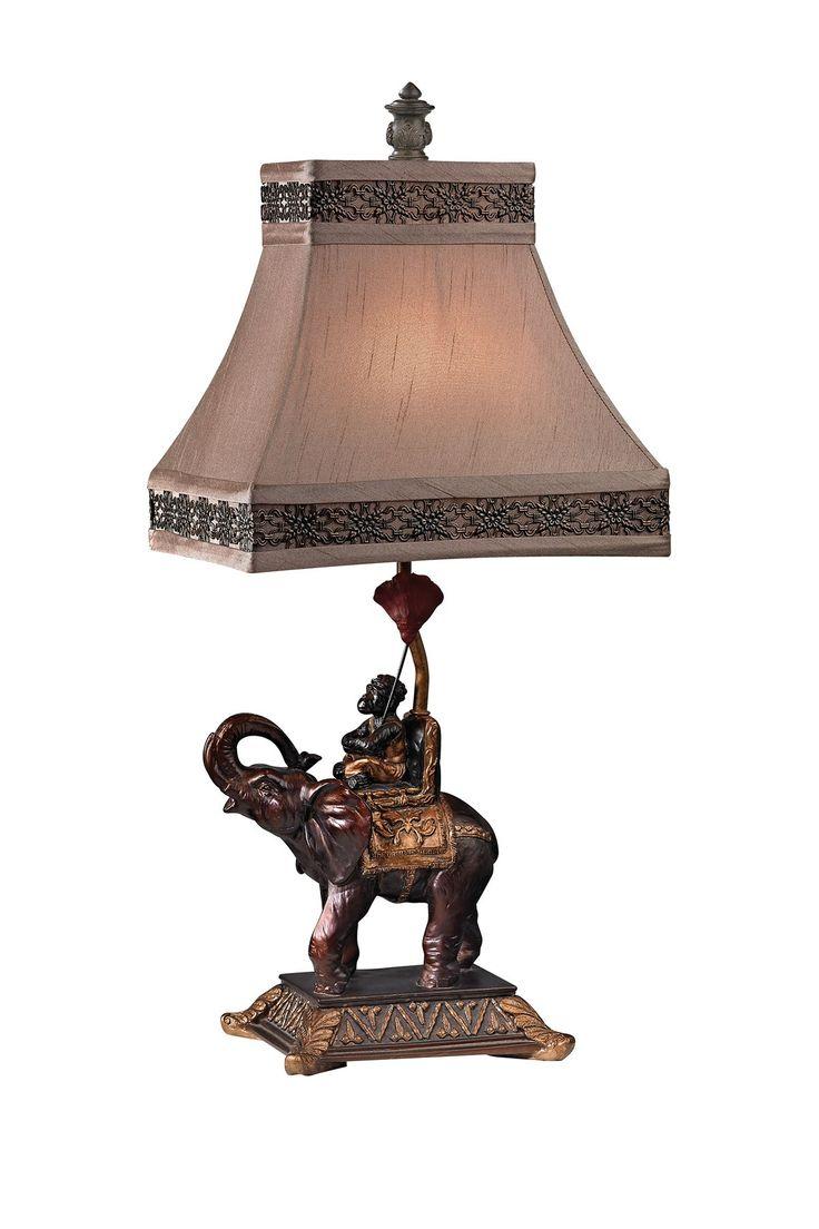 127 best british colonial lamps images on pinterest animal print money on elephant accent lamp geotapseo Gallery