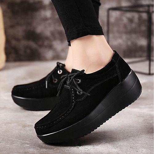 5a687f291e0 Mujer Zapatos PU Primavera   Otoño Confort Zapatillas de deporte Tacón Plano  Gris   Rojo