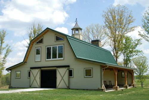 Gambrel metal roof google search barn house for Gambrel roof barn kits