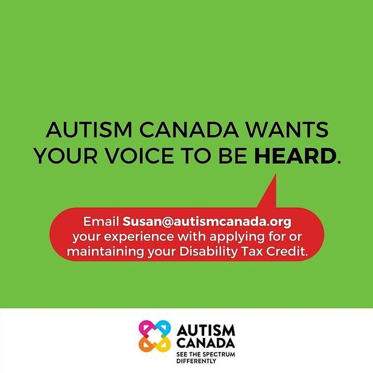 It is critical and essential that you send your experiences with regard to applying for and maintaining your Disability Tax Credit to Susan@autismcanada.org. This way we can provide the CRA with the most robust feedback to make change.