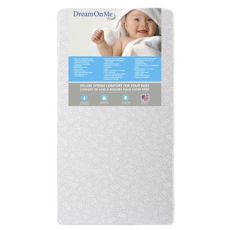 Dream On Me Little Baby 6 inch Full Size Firm Foam Crib and Toddler Bed Mattress, Gray